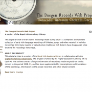 Doegen Records Web Archive